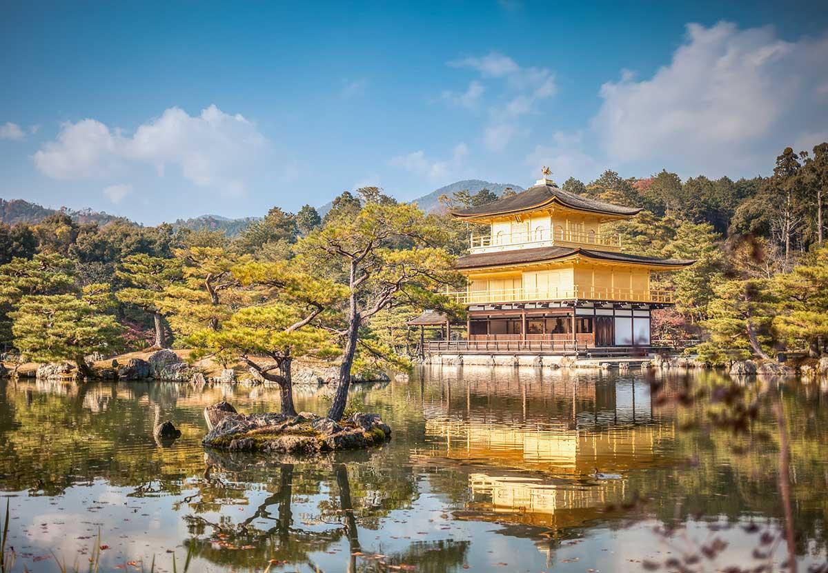 Things to see in Kyoto - Kinkaku-ji temple Golden pavilion