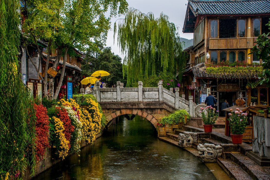 Traditional Chinese village in Yunnan, China