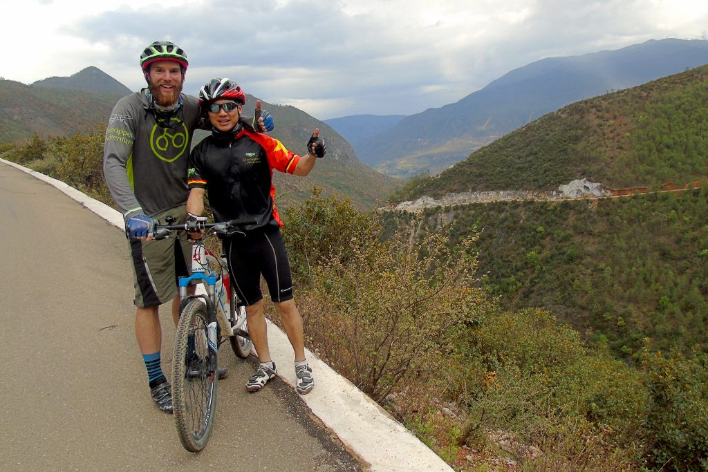 two bikers in China
