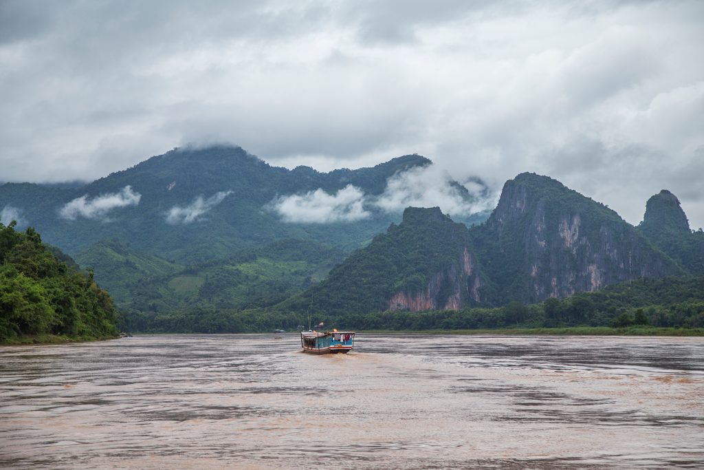 At the confluence of the Ou and Mekong Rivers