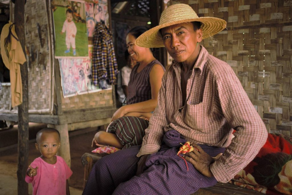 Village family in Myanmar