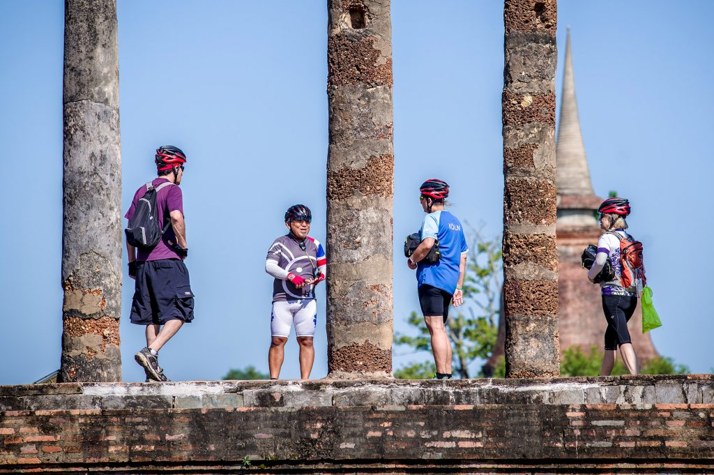 Group on tour Sukhothai Thailand