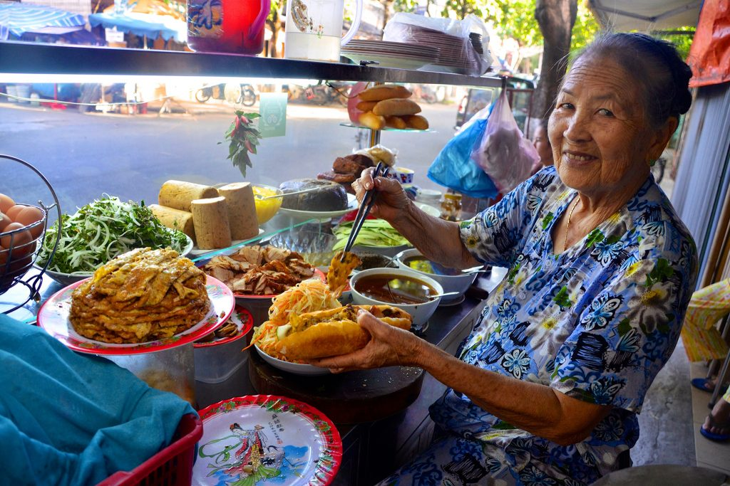 Street food vendor in Hoi An, Vietnam