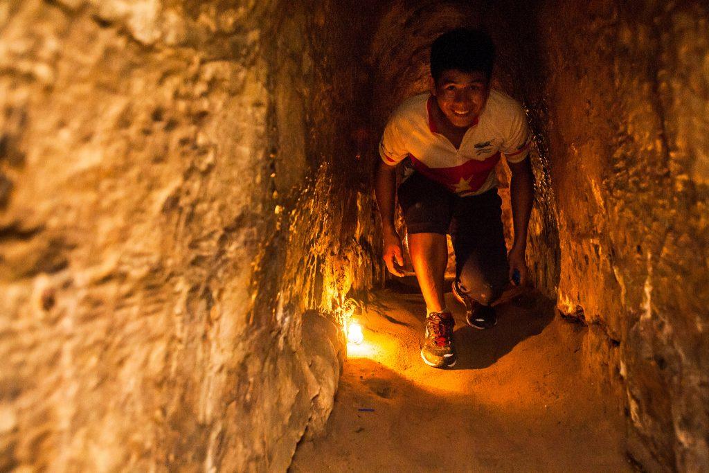 Bike guide in Cu Chi Tunnel, vietnam