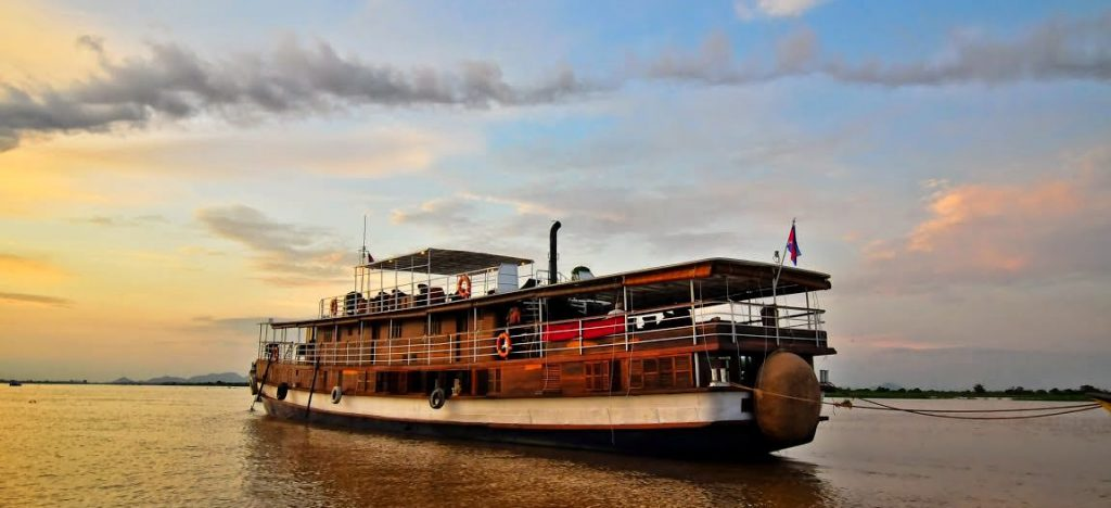 Luxury Riverboat on the Mekong river