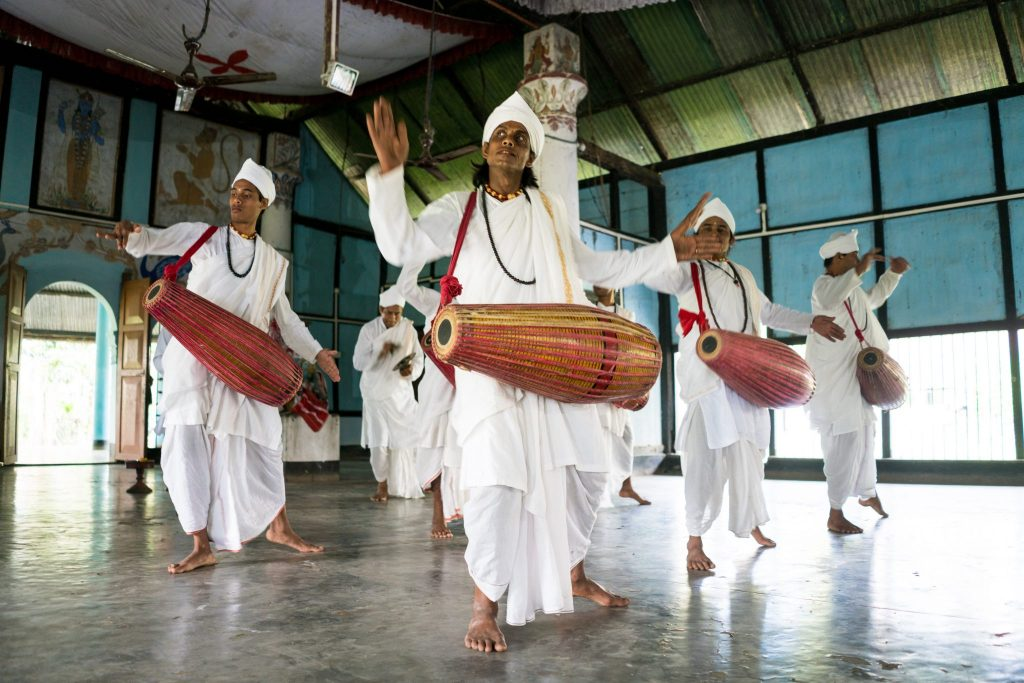 Traditional dance with drums in India