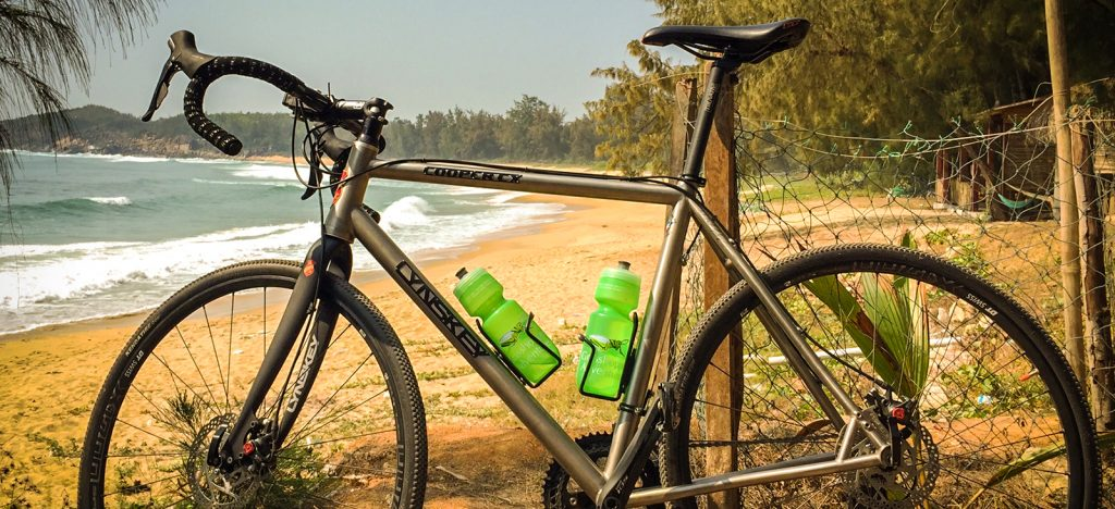 Lynskey bicycle by beach