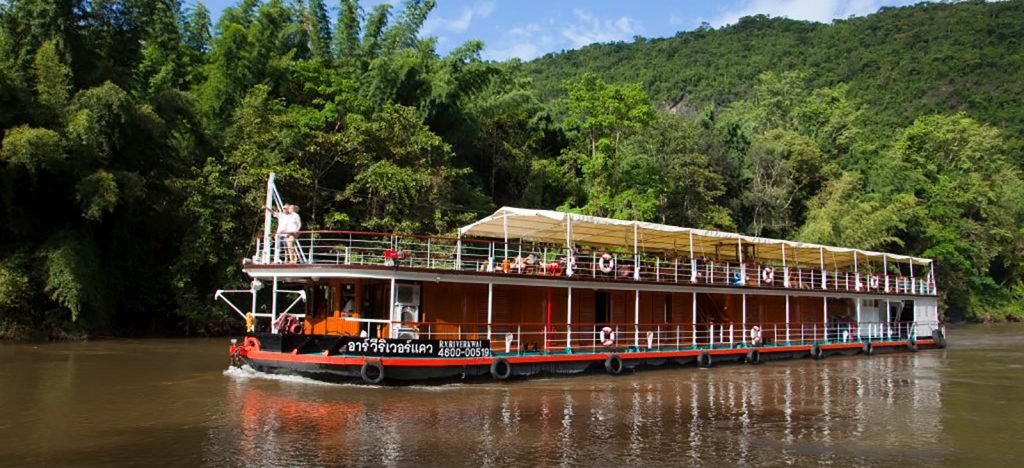Luxury riverboat in Thailand