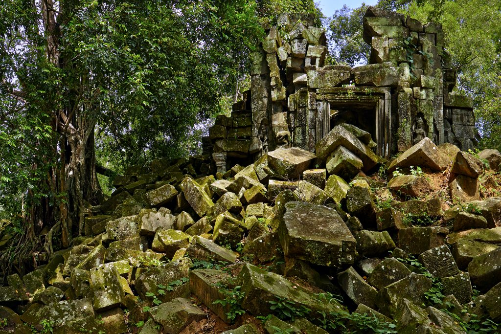 Ruins of an Angkorian temple