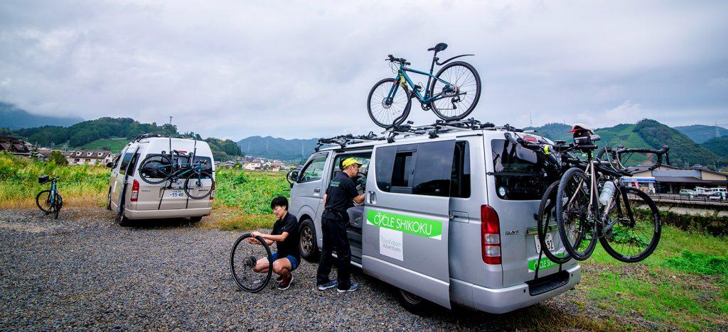 Bicycles and vans in Japan